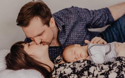 Neugeborenen-Homeshooting